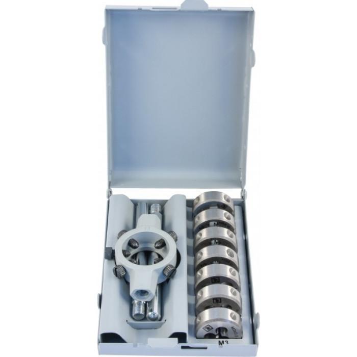 MDS8 Набор плашек D-COMBO круглых ручных М3-М12, HSS, 8 предметов