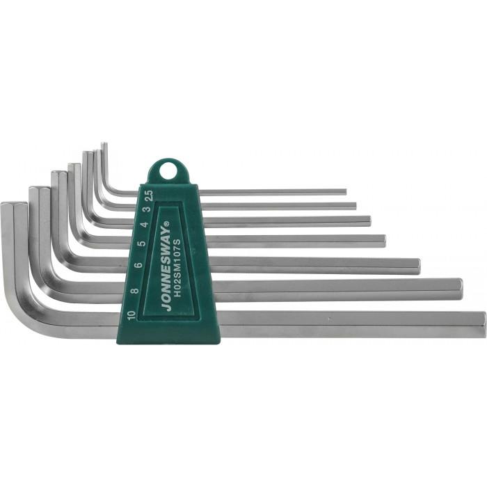 H02SM107S Комплект угловых шестиграников LONG 2,5-10мм, 7 пр. S2 материал